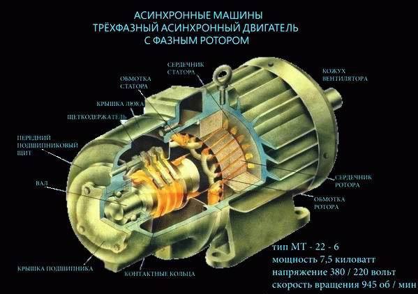Асинхронный двигатель работа, характеристики