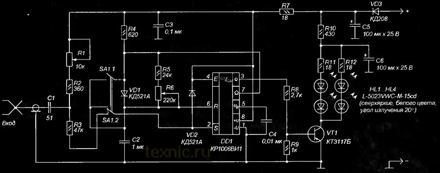 схема стробоскопа тахометра