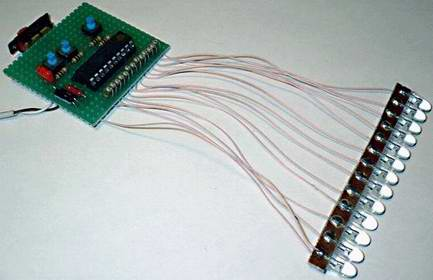 Бегущие огни на микроконтроллере готовая самоделка