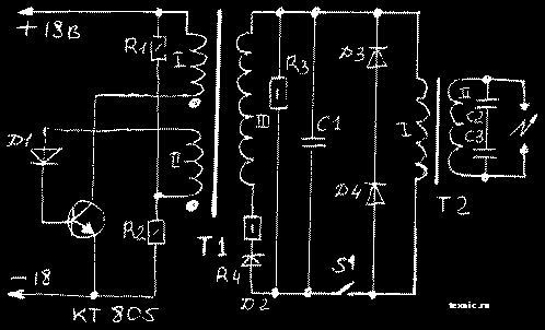 """Схема электрошокера """"Гром"""""""