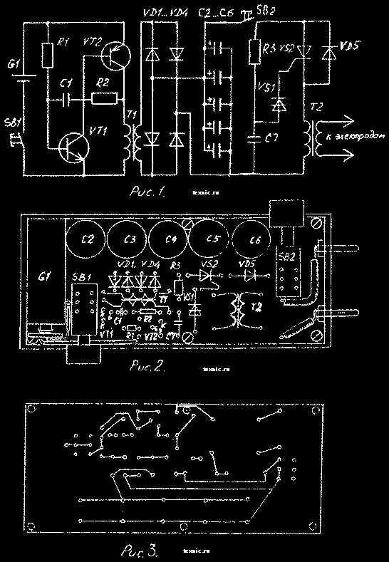 Схема электрошокера Оружие защиты