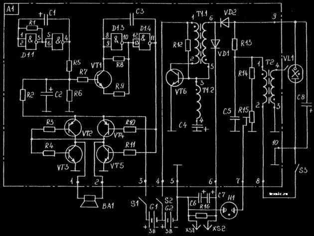 Схема шокера «Меч-1».