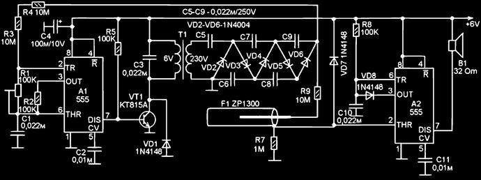 Счетчик радиации на ZP1300