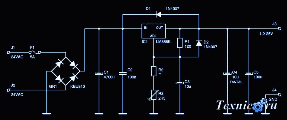 Lm358 в блоке питания