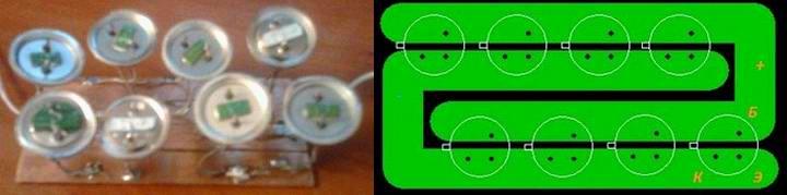 Солнечная батарея из транзисторов