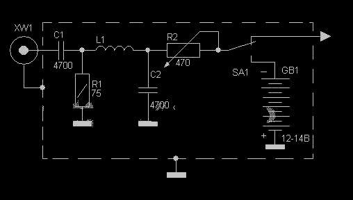 Резестивный генератор белого шума схема