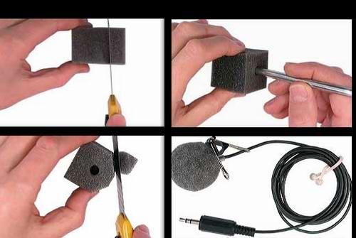 ветрозащитный колпачок для электретного микрофона