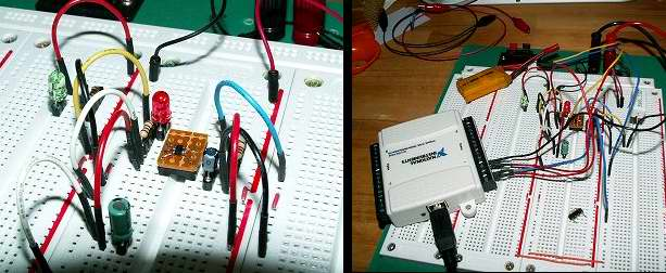 Макетная плата ЗУ литиевого аккумулятора на MCP73831