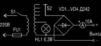 Стандартная схема зарядного устройства