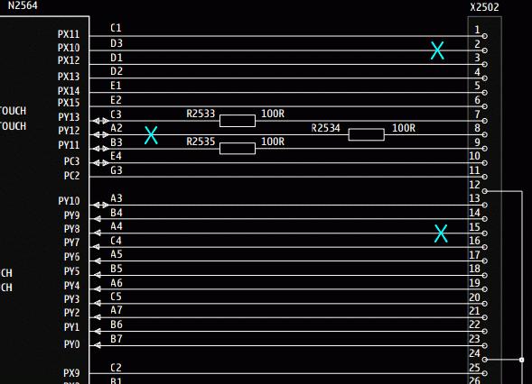 Фрагмент схемы Nokia X7-00