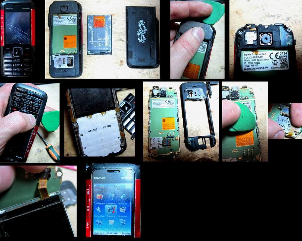 Замена экрана Nokia 5310