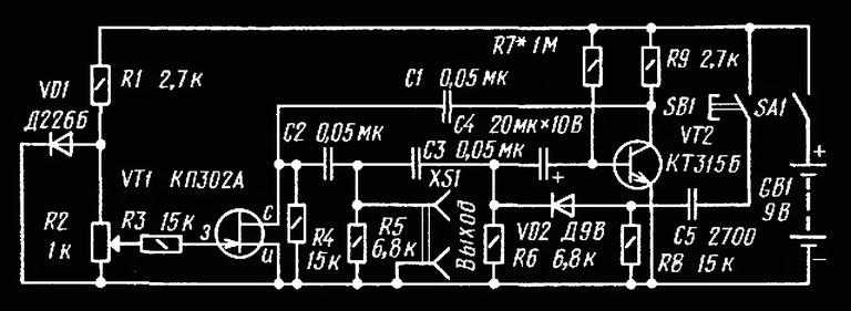 Схема электронного барабана
