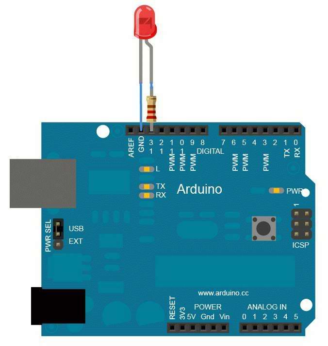 управлять установленным в Arduino светодиодом